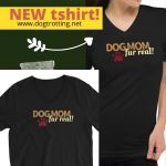 image promoting 'dog mom' tshirt