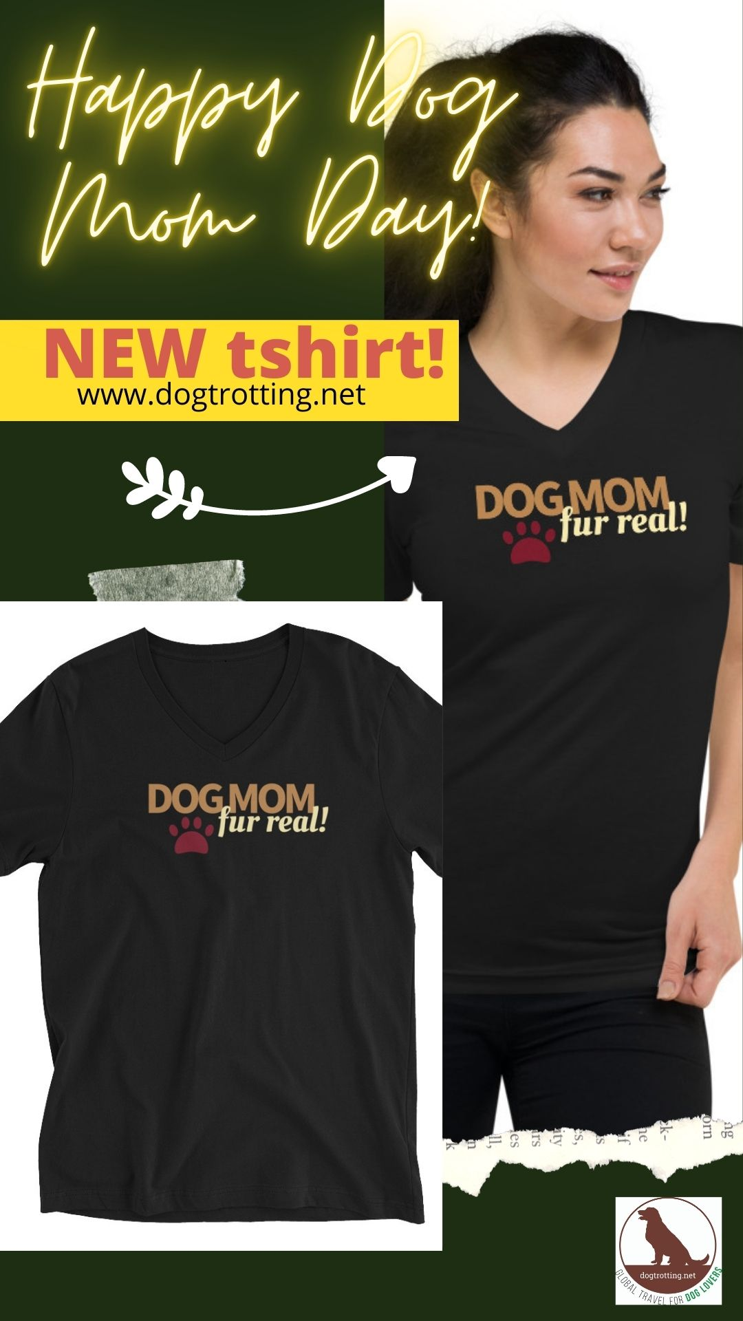image promoting 'dog mom' tshirt